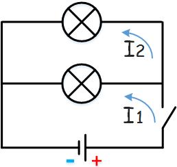 Начертите схему электрической цепи, состоящей из источника тока, выключателя и двух ламп, включенных параллельно.