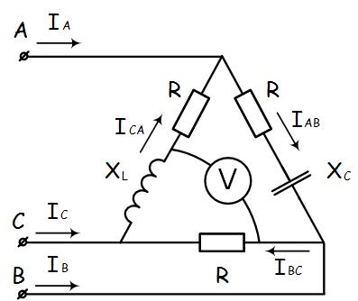 Решение задачи трехфазной цепи соединение звездой программа по решению геометрических задач